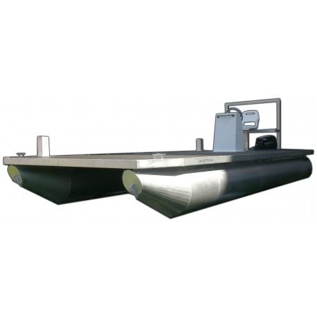 Pontónová hliníková loď / katamarán pracovný - Shiptech 500