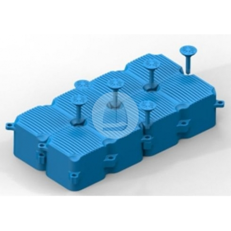 Plastový pontón - modul 2 - 1,0 x 0,5 x 0,44