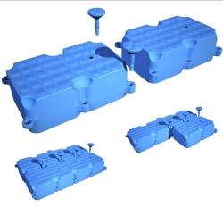 Spojovací čap pre plastový pontón - Modul 2 - 1,0x0,5