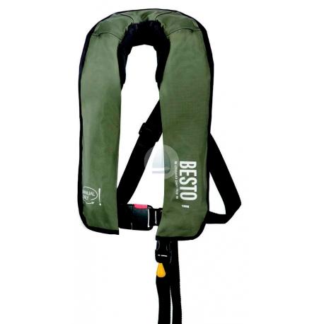 Záchranná vesta rybárska nafukovacia manuálna 165N / 300N
