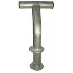 Plastový modulárny pontón 05-spojovací a kotvaci čap krajný s rohatinkou-pozink
