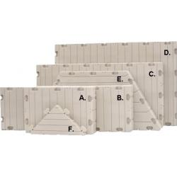 Plastový pontón EZ dock-plavák F-rohový trojuholník 0,85x0,85x0,15m