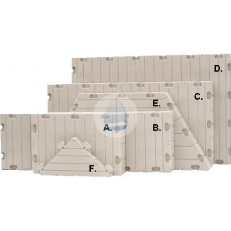 Plastový pontón Edock-plavák E-rohový trojuholník 0,85x0,85x0,15m