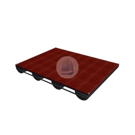 Pontón oceľový – 4x3m (4plavákový)